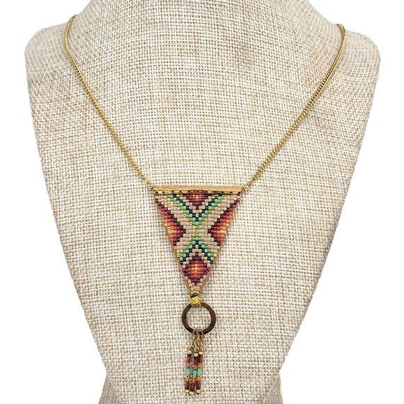 Mishky Ivonne Beaded Boho Necklace Sample Piece